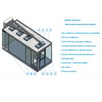Class 100 Sandwich Panel Clean Room With Air conditioner and 99.99% HEPA filter Manufactures