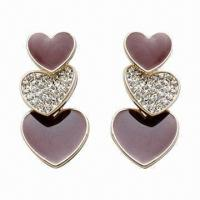 Fashionable Earrings, Made of Alloy, Available in Various Styles Manufactures