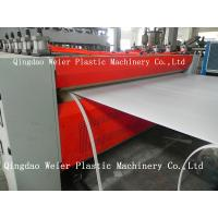 1220mm Plastic Hollow PE / Pp Sheet Extrusion Line 1000mm-5000mm/Min Manufactures