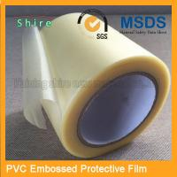 Adhesive Embossing PVC Protective Film Roll With High Viscosity Manufactures