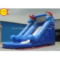 Two Slides Blue Sea PVC Inflatable Water Slide With Pool For Adults / Kids Manufactures