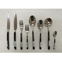 Stainless Steel Flatware Sets of 13 Pieces Black-Plated Handles Knives Forks Spoons Manufactures