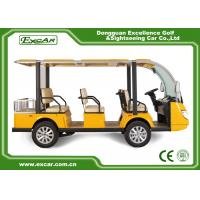 72V Trojan Battery Electric Sightseeing Bus Manufactures