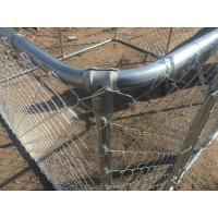 """4 foot x 7.5 foot x 7.5 foot chain link mesh dog kennel ,DIY porducts mesh 2""""-3/8 x 2.3mm diameter .temporary chain mesh Manufactures"""
