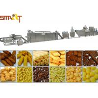 High Performance Snacks Food Product Line , Stainless Steel Puffed Food Machine Manufactures