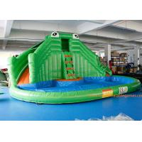 PVC Tarpaulin Crocodile Commercial Inflatable Jumpers Slides For Event Manufactures