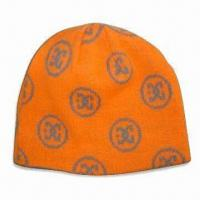 Mens' Knitted Beanie/Hat, Available with Jacquard Logo Printings, Made of Acrylic Manufactures