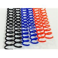 Colorful Plastic Spiral Binding Coils 48 Rings 4 1 Pitch For Office / School Manufactures