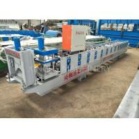 Quality Automatic Roof Ridge Cap Tile Cold Roll Forming Machine / Glazed Aluminum Metal for sale