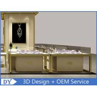 OEM Custom Luxury Glass Jewelry Showcase Counter With Led Manufactures