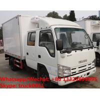 High quality 2018s Japan ISUZU 4*2 LHD double cabs 2tons fresh meat cooling van truck for sale, refrigerator truck Manufactures