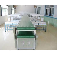 Simple Operation Assembly Line Conveyor , Conveyor Belt Assembly System With Double Layer Manufactures