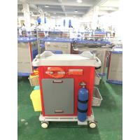 Buy cheap Mute Wheel ABS Hospital Medicine Trolley Mobile Crash Cart With Trash Can from wholesalers