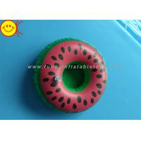 Watermelon Inflatable Water Floats / Pool Floats Customized Inflatable Cup Holder Manufactures