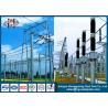 500KV Galvanized Substation Switchyard Structures Tubular , Tapered Manufactures