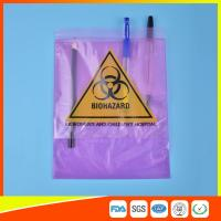 Medical / Laboratory Specimen Transport Bags Plastic Resealable With Document Pouch Manufactures