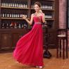 Fuchsia/Red Fashion One-shoulder Chiffon Long Women Formal Evening Dress 2014 Free Shipping Manufactures