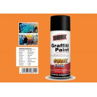MSDS Graffiti Spray Paint , Outdoor Spray Paint With  Orange Yellow Color Manufactures