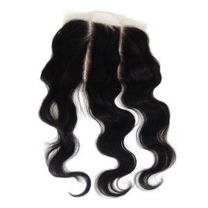 China Factory price grade 5A virgin brazilian huamn hair 3 part silk base lace closure on sale