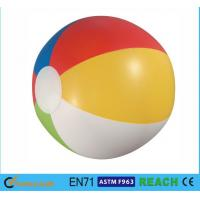 Glossy Panel Colorful Beach Balls , High Safety Personalized Mini Beach Balls Manufactures