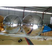 Large Advertised Inflatable Balls For Club / Wedding Stage Decoration With Mirror Fabric Manufactures