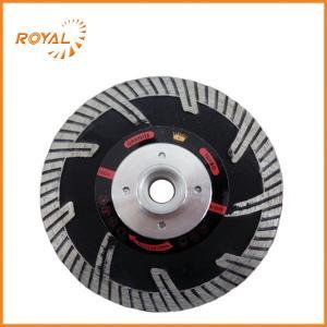 China 115mm black-coated circular diamond saw blade with flange on sale