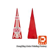Quality Paperboard Candy Custom Printed Gift Packaging Boxes Unique Tower Shaped for sale