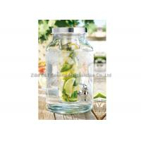 5.7L Glass beverage dispenser with infuser / Jar With Spout For cold juice drinking Manufactures