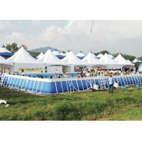 China Customized Amusement Park Metal Frame Pool With Dinosaur Water Slide on sale