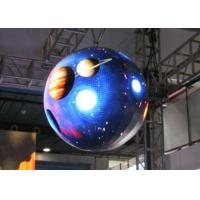 SMD Sphere LED Display Screen , 360 Degree LED Display Aluminum Manufactures