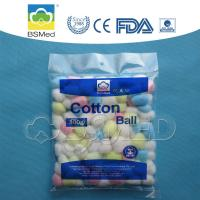 Disposable Pink / White Sterile Cotton Wool Balls Lightweight Non Irritating Manufactures