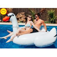 White Inflatable Water Floats , Inflatable Swan Pool Toy For Two Adult Manufactures