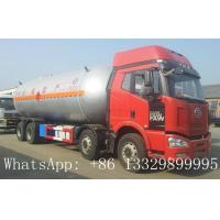 FAW brand 8*4 LHD 35.5m3 LPG tank truck for sale, hot sale best price FAW brand 35500L bulk propane gas tank truck Manufactures