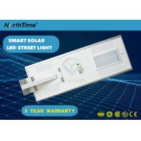 Integrated Solar Powered LED Street Lights With Aluminum Alloy Lithium Battery Motion Sensor Manufactures