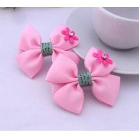 Cute Pink Nylon Tape Bowknot Fashion Hair Clips Bobby Pin For Kids Manufactures