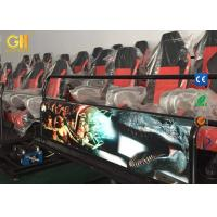 Hydraulic / Electric Platform 5D Movie Theater With Roller Coaster Simulator Manufactures
