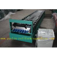 Trapezoidal Roof Panel Roof Tile Roof Sheet Cold Roll Forming Machine For Construction Material PLC Automated Control Manufactures