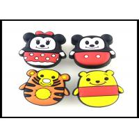 Cute Animals Childrens Wardrobe Door Handles Rubber Yellow Tiger Knobs / Giraffe PVC Furniture Fittings Manufactures