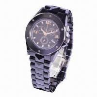Fashion Wristwatch with Ceramic Case and Band Material Manufactures
