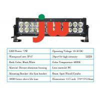 Quality IP68 PC Lens LED Light Bar Wiring Harness 13.5 Inch 72w With Braided Tin Wire for sale