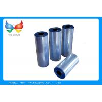 50% Shrinkage Shrink Pvc Film , Pvc Film Roll Pre - Distorted Print For Shrink Sleeve Manufactures
