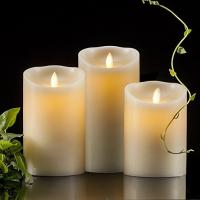 Quality Battery Operated Flickering White Flameless Candles Party Decoration for sale