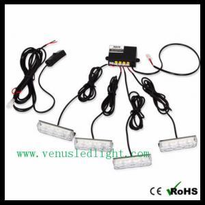 4 X 3 LED Blue Car Warning Light Strobe Flash Light Lamp Manufactures