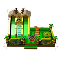 Quality Cheap PVC Inflatable Green Palm Tree Funny Animal Zoo Bouncer Castle For Kids for sale