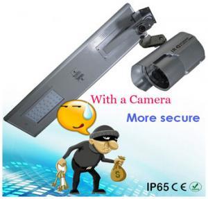 integrated solar street light 20W camera outdoor wireless solar power security IR camera Manufactures