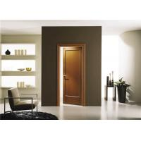 House Model Open Inside Swing Solid Wood Doors Customized Color With Knobs / Locks Manufactures