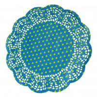Quality Greaseproof paper, glassine paper Blue Cake Cup Decorative Cupcake Wrappers, for sale