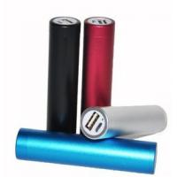 OEM Cylinder Portable USB Power Bank 2400mAh For GPS / PSP Manufactures