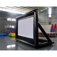 Special White Material Inflatable Blow Up Movie Screen For Outdoor Lawn / Park Manufactures