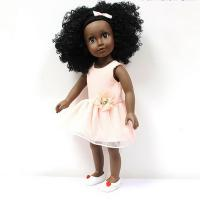 Buy cheap 18 Inches  vinyl African American dolls with customized dress from wholesalers